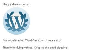 Empat Tahun Dari Wordpress
