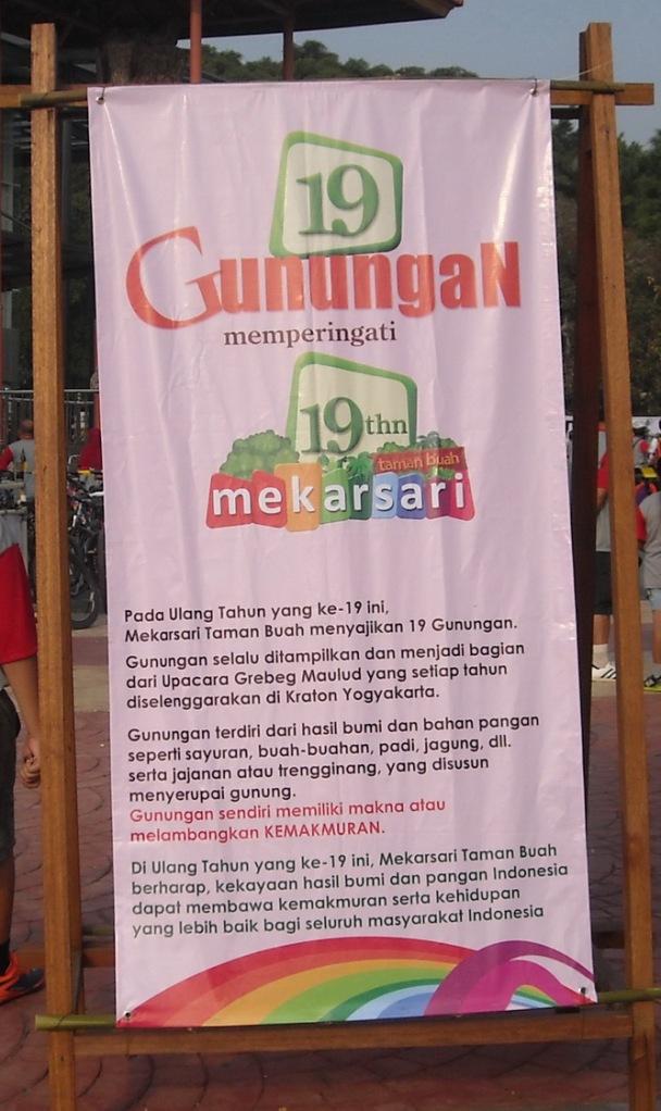 Plakat Ultah 19 Gunungan