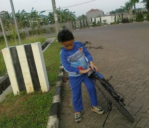 Lari dan Sepeda