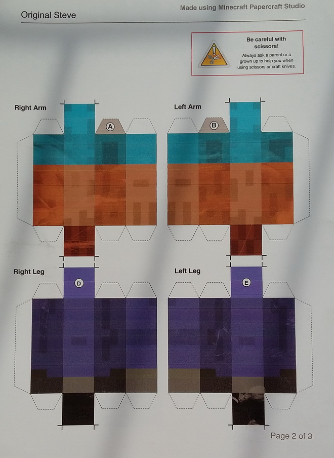 Minecraft Kreasi Pola Karakter Steve