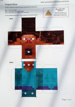 Minecraft Kreasi Steve Pola