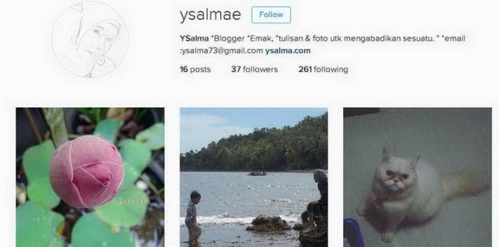 Akun Instagram YSalma