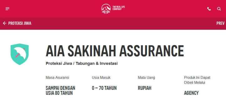 Dapatkan Segera Asuransi Jiwa Syariah AIA Sakinah