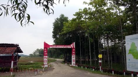 Salah Satu Gerbang RW Desa