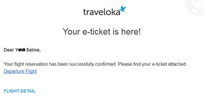 E Ticket Traveloka