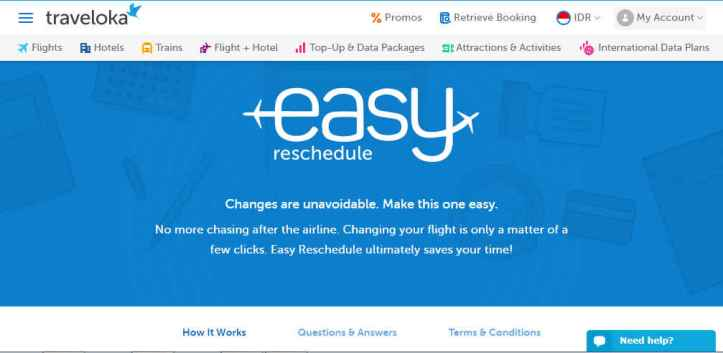 Easy Reschedule Traveloka
