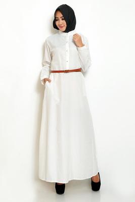 Gamis Polos Putih-YSalma
