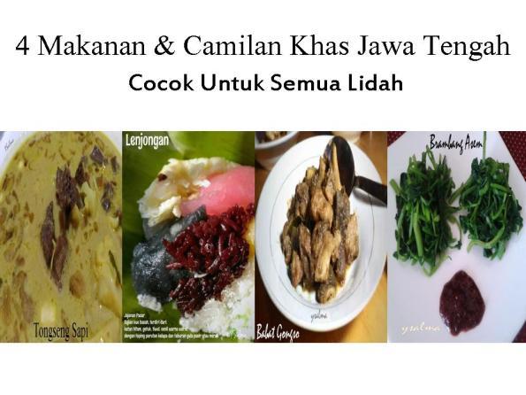 Makanan dan Camilan Khas Jawa Tengah