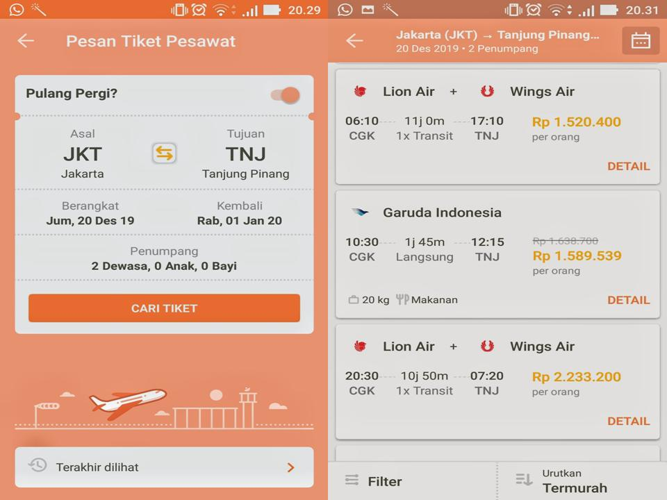 Cari Tiket Pesawat di Pegipegi