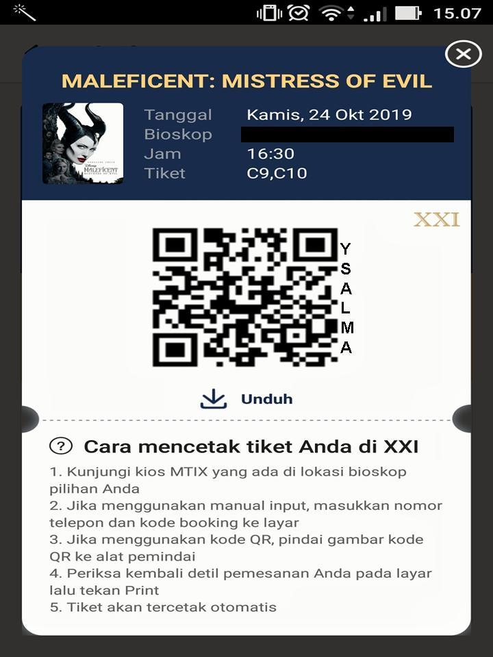 Tiket Film QR Code