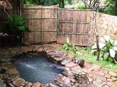 kolam rendam air panas gunung pancar