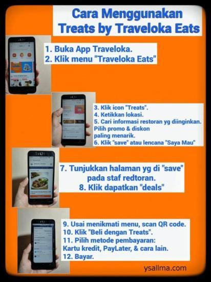 Cara menggunakan Treats by Traveloka Eats mudah