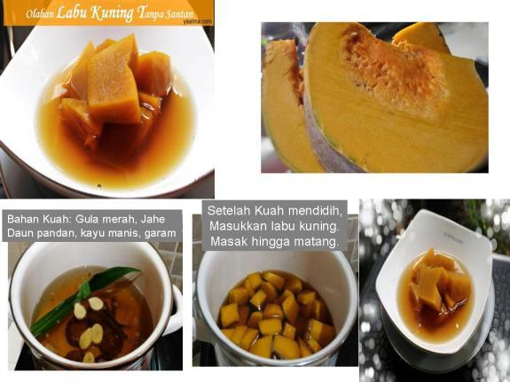 Proses memasak labu kuning sehat