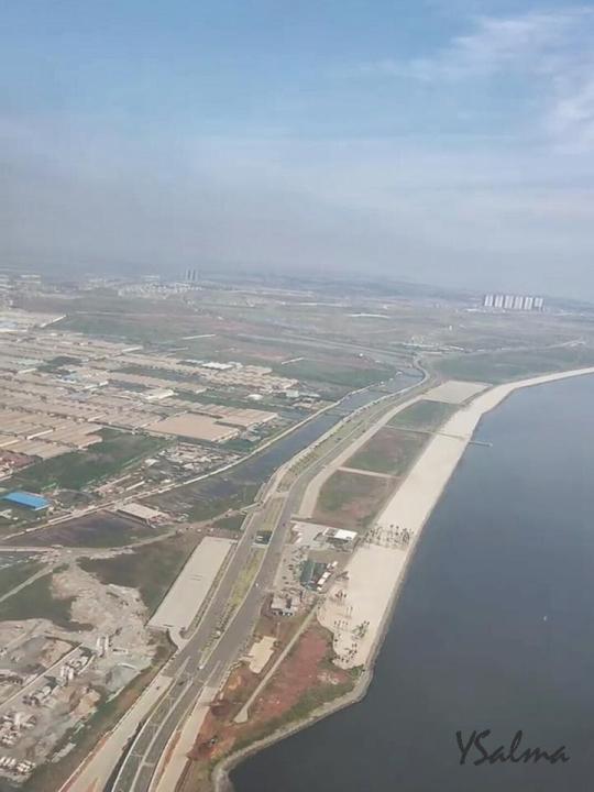Foto bandara Soetta dari atas