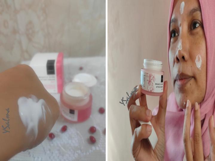 Face care Scarlett tekstur dan cara pakai brightly day cream