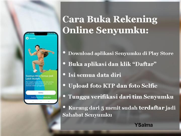 Bank digital Senyumku cara buka rekening online